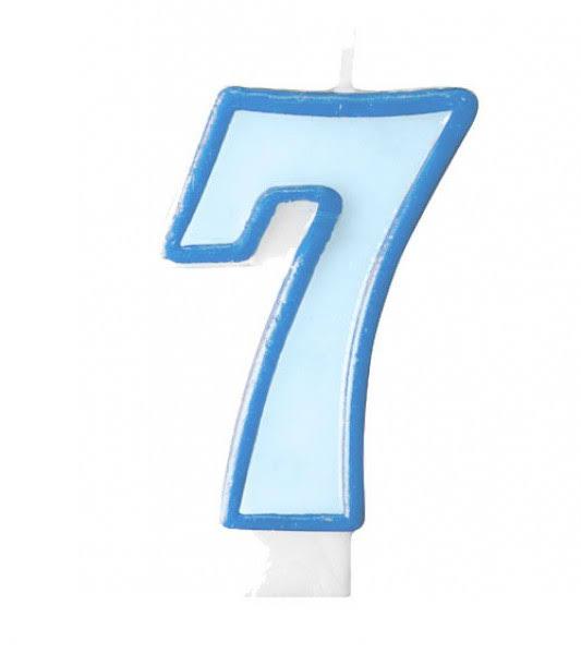 geburtstagskerze 7 blau blau zahlen kerzen kerzen back und tortenzubeh r party. Black Bedroom Furniture Sets. Home Design Ideas