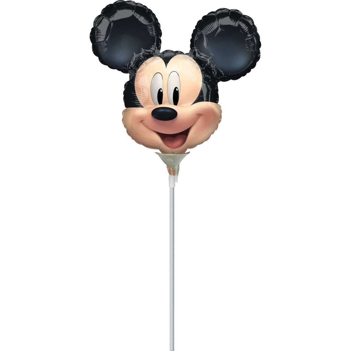 folienballon  micky maus kopf  30cm  miniballons