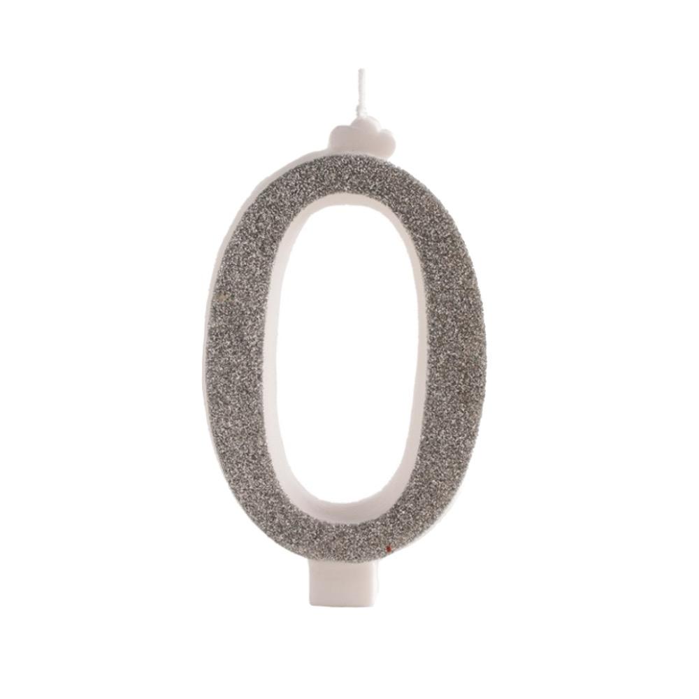 geburtstagskerze 0 silber glitzernd ca 13cm silber zahlen kerzen kerzen back und. Black Bedroom Furniture Sets. Home Design Ideas